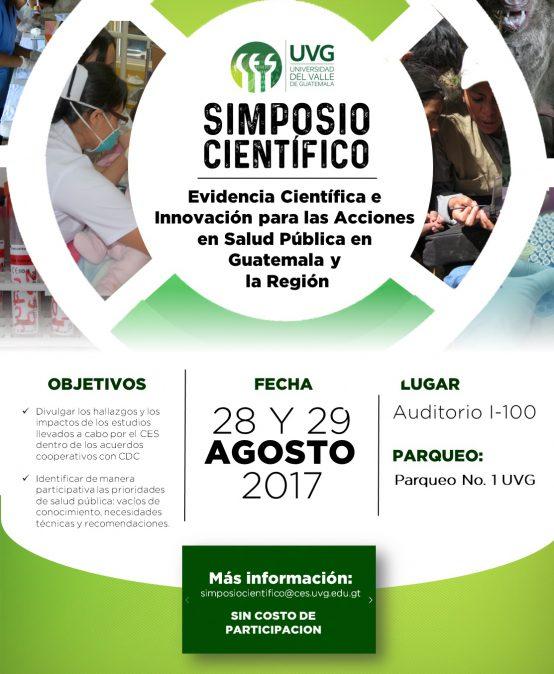 SIMPOSIO CIENTÍFICO EVIDENCIA CIENTÍFICA E INNOVACIÓN PARA LAS ACCIONES EN SALUD PÚBLICA EN GUATEMALA Y LA REGIÓN